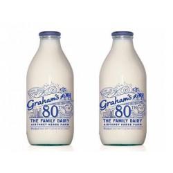 Grahams Whole Milk Pint Glass Bottle