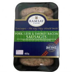 Ramsay Pork Leek & Bacon Sausages